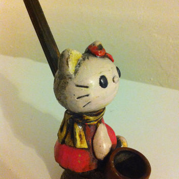 Tobacco Hand Made Pipe, Hello Kitty Design