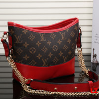 LV Louis Vuitton Women Shopping Leather Metal Chain Crossbody Satchel Shoulder Bag