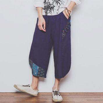2017 autumn oversize Casual Travel Harem Pants Fluid Low drop Crotch Bloomers Indian Nepal Baggy Trousers for men