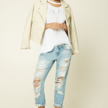 Destroyed Boyfriend Denim Pants