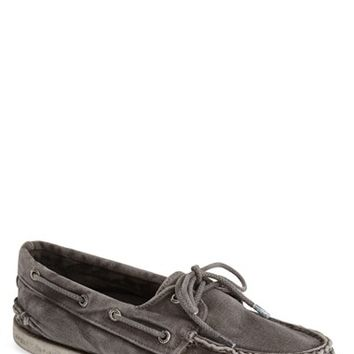 Men's Sperry 'Authentic Original' Washed Canvas Boat Shoe,