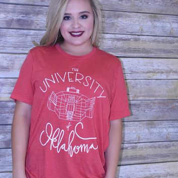 The University of Oklahoma Canvas Stadium Calamity Jane Tee