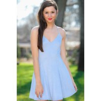Almost A Love Song Dress-Blue