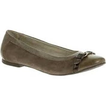 Hush Puppies Women's Miera Ackland IIV ~ Grey Suede and  Leather ~ Flats
