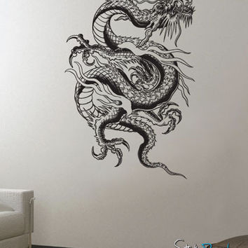 Vinyl Wall Decal Sticker Large Dragon #656
