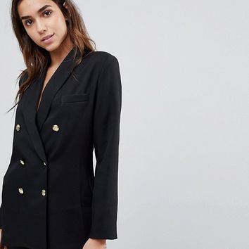 Missguided Longline Tailored Blazer at asos.com