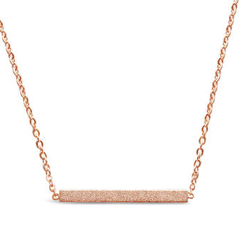 Rose Gold Minimalist Bar Necklace