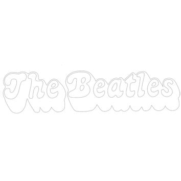 Beatles - 3D Logo Cutout White Decal