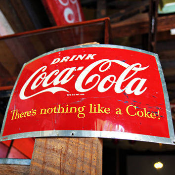 1950's Coca-Cola Barrel Sign