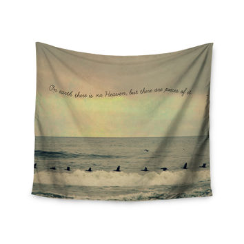 "Robin Dickinson ""Pieces of Heaven"" Tan Beach Wall Tapestry"