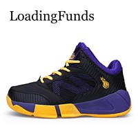 LoadingFunds 2018 New Boy Basketball Shoes Kid Sneakers Sport Shoes Children Shoes Sport Boot Running Jogging For Boys And Girls