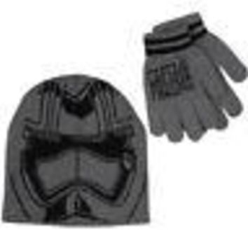 Star Wars Force Awakens Captain Phasma Disney Kid's Youth Gray Beanie/Glove Set