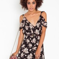 Faded Floral Dress in  Clothes at Nasty Gal