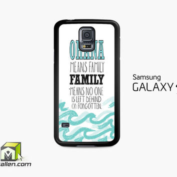 Ohana Means Family Lilo And Stitch Samsung Galaxy S5 Case Cover by Avallen
