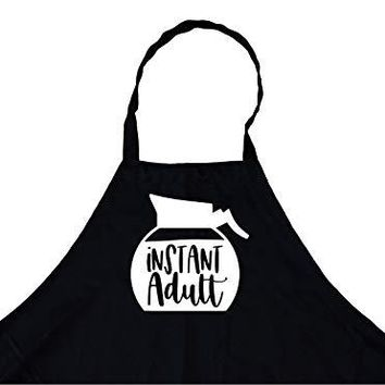 StickerChef Instant Adult Coffee Chef's Funny Cooking Apron Kitchen, BBQ Grill, Breathable, Machine Washable…
