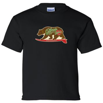 California Love Vintage Surfboard Asst Colors Youth T-Shirt/tee
