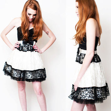 Black and White Holiday Jessica Mcclintock Dress