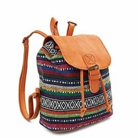 Aztec Canvas Mini Backpack