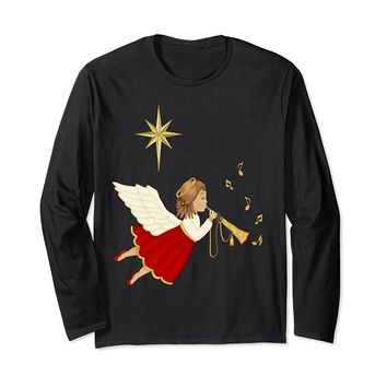 Trumpet Angel Christmas long sleeve t-shirt