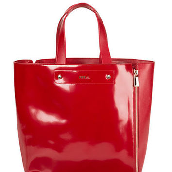 Furla Musa Leather Medium Zip Tote Bag