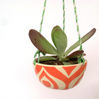 Hanging planter---coral eye pattern