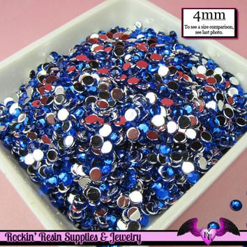 200 pcs 4 mm DARK BLUE RHINESTONES Flatback Great Quality 16ss