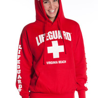 Girls Red Iconic Lifeguard Hoodie