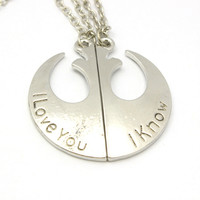 """Star Wars """"I love You - I Know"""" Pendant Necklace"""