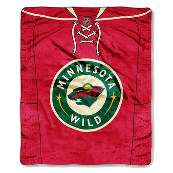 Minnesota Wild NHL Royal Plush Raschel Blanket (Jersey Series) (50x60)