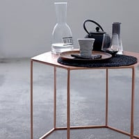 Copper Plated Hexagonal Coffee Table