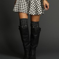 Sale-black Pearl Lurex Leg Warmers