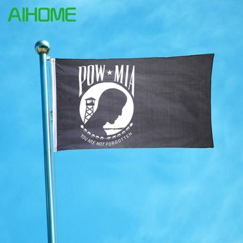 "New Military Memorial POW MIA ""You are not forgotten"" Flags American Flag and Banners The United States Flag Home Decoration"
