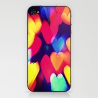 Bokeh Hearts iPhone & iPod Skin by Caleb Troy | Society6