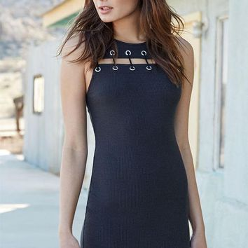 CREYONDI5 Kendall and Kylie Lace-Up Chest Bodycon Dress