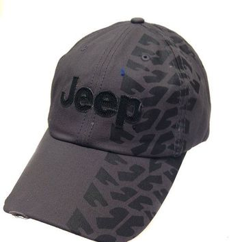 ESBON3F Jeep Hat w/Weathered Tire Track Design Print