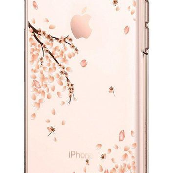 Spigen Liquid Crystal [2nd Generation] Iphone 8 Case / Iphone 7 Case With Slim Protection And Premium Clarity For Apple Iphone 8 (2017) / Iphone 7 (2016) Blossom