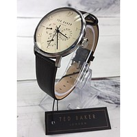 Ted Baker London TE50623001 42mm Ivory Dial Leather Strap Men's Watch