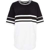 Black and white jumbo stripe t-shirt - plain t-shirts / vests - t shirts / vests / sweats - women