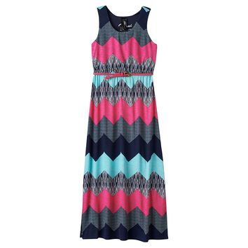 Three Pink Hearts Printed Racerback Maxi Dress - Girls