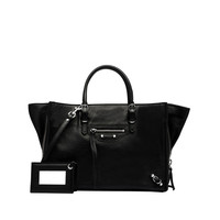 Balenciaga Papier A6 Zip Around Black - Women's Cross Body Bag