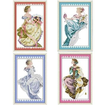 Winter Queen Patterns Counted Cross Stitch DIY 11CT Printed 14CT Cross Stitch Set Chinese Cross-stitch Kit Embroidery Needlework