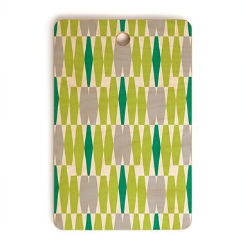 Heather Dutton Abacus Emerald Cutting Board Rectangle
