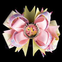 My Little Pony Fluttershy Hair Bow with Bottle Cap