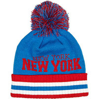 Blue New York beanie hat - hats - accessories - men