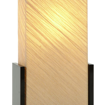 "WOOD TABLE LAMP 24""""H"