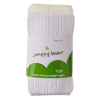 Jumping Beans 2 Pk. Cable Knit & Solid Tights   Baby Girl Size: