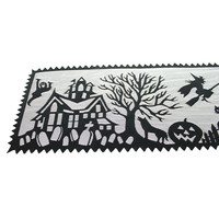 Halloween Spooky Hollow Table Runner Halloween Decor