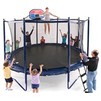 JumpSport Elite 14-ft. PowerBounce Trampoline with Enclosure - Trampolines at Hayneedle