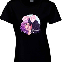 Melanie Martinez Doll House Cute Face Cover  Womens T Shirt