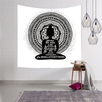 Indian Mediation Buddha Wall Tapestry
